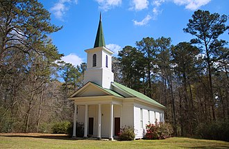 Bladon Springs, Alabama - Bladon Springs Methodist Church, built circa 1847.