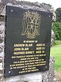 Blair Memorial plaque (close-up) - geograph.org.uk - 1394942.jpg