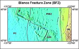 Fracture zone - U.S.G.S. Blanco Fracture Zone regions image