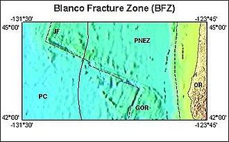 Fracture zone - U.S.G.S. Blanco Fracture Zone regions image