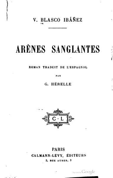 File:Blasco Ibañez - Arènes sanglantes.djvu