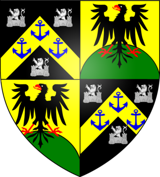 Sable (heraldry) - Image: Blazon of the Castelyn family of London