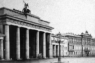 Embassy of the United States, Berlin - Brandenburg Gate (left) next to the Blücher Palace (far right)