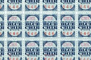 Blue Chip Stamps - A sheet of Blue Chip Stamps