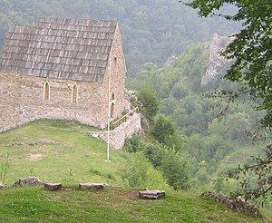 Bobovac - Picture of restored chapel at Bobovac.