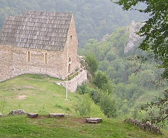 Kotromanić dynasty - A reconstructed chapel in Bobovac which housed a burial vault of the Kotromanić royal family
