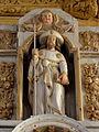 Bodilis (29) Église Notre-Dame Autel et retable de la Sainte-Famille 03.JPG