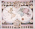 Bodleian Libraries, Map of the World in two hemispheres.jpg