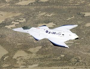 McDonnell Douglas X-36 - X-36 in flight