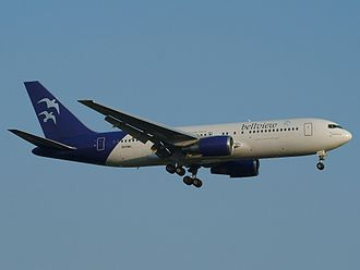 Bellview Airlines - A Boeing 767-200 of Bellview Airlines on approach of London Heathrow Airport in 2006.