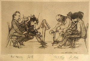 Bohemian Quartet - The Bohemian Quartet in 1907 by Hugo Boettinger