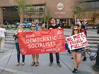 Politics of global warming - Global warming has attracted the attention of far left groups, as here with the Democratic Socialists of America.