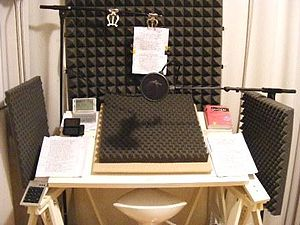 Audiobook - Example of an audio studio for professional readings.