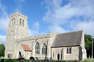 Bolnhurst village in the United Kingdom