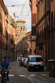 Bologna Arcades leading to ancient city gate.jpg