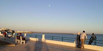 Borde de la peninsula de Rio de Oro%2C en Dajla %28Sahara Occidental%29
