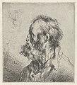 Borstbeeld van een oude man met baard Diverse tronikens geets van J. L. (serietitel), RP-P-OB-12.562.jpg
