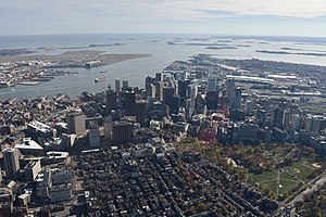Downtown Boston - Aerial view of Downtown Boston, 2015