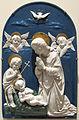 Bottega dei della robbia (da andrea), adorazione del bambino, 1525-50 ca..JPG