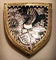 Bottega lombarda, scudetto con stemma visconti, 1350-1400 ca., argento.JPG
