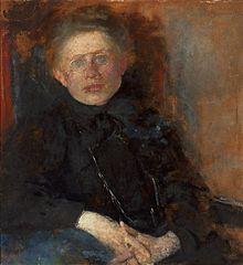 Portrait of painter Anna Saryusz-Zaleska.