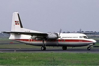 Fokker F27 Friendship - Braathens SAFE F27-100 Friendship in August 1974