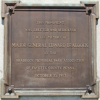 Edward Braddock - Dedication Plaque