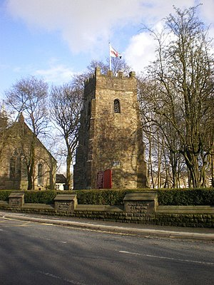 Listed buildings in South Turton - Image: Bradshaw Chapel Tower geograph.org.uk 1224012