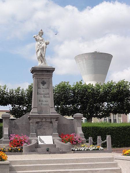 Brancourt-le-Grand (Aisne) monument aux morts et château-d'eau