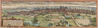 Valladolid - Vallisoletum, 1574, by Braun and Hogenberg.