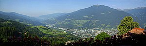 History of Tyrol - View from south to the city of Brixen and the Eisacktal