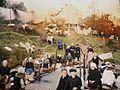 Brest Le lavoir de Saint-Pierre-Quilbignon vers 1920 date et photographe non mentionnés, musée Albert Kahn, autochrome.jpg