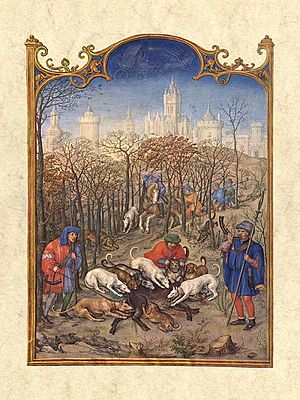 Grimani family - Miniature depicting the month December, from the Grimani Breviary, illuminated by Gerard Horenbout with Alexander and Simon Bening