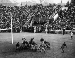 Drop kick - Brickley's drop kick to defeat Dartmouth in 1912.