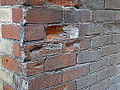 Bricks eroded by weather on Ashby Place, 2014 12 03 (2) (15325523953).jpg