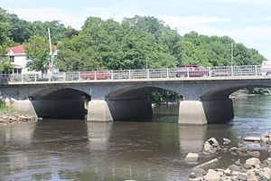 Ellsworth, Maine - Bridge over the Union River in downtown Ellsworth