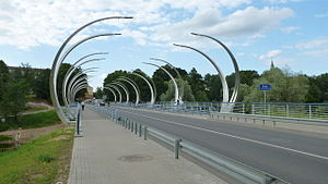 Valmiera - Image: Bridge over Gauja river