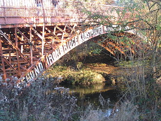 Thomas Penson - Bridge over the Severn at Abermule