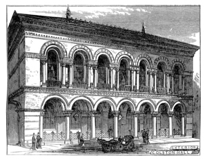 Bristol Byzantine - The Colston Hall from an engraving