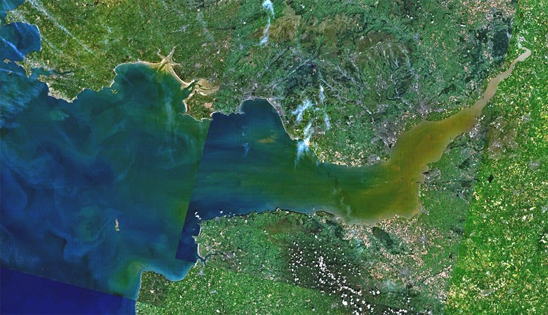 Bristol channel landsat7