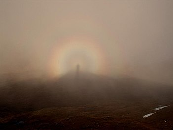 English: Brocken Spectre from the summit of Me...