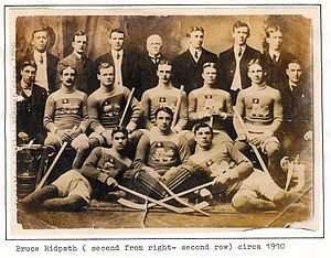 Bruce Ridpath - Bruce Ridpath with the Toronto Marlboros c. 1905.