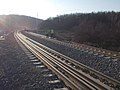 Budapest–Hatvan railway line under reconstuction, 2019 Isaszeg.jpg