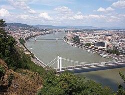 Дунай в Будапеште (вид с горы Геллерта)