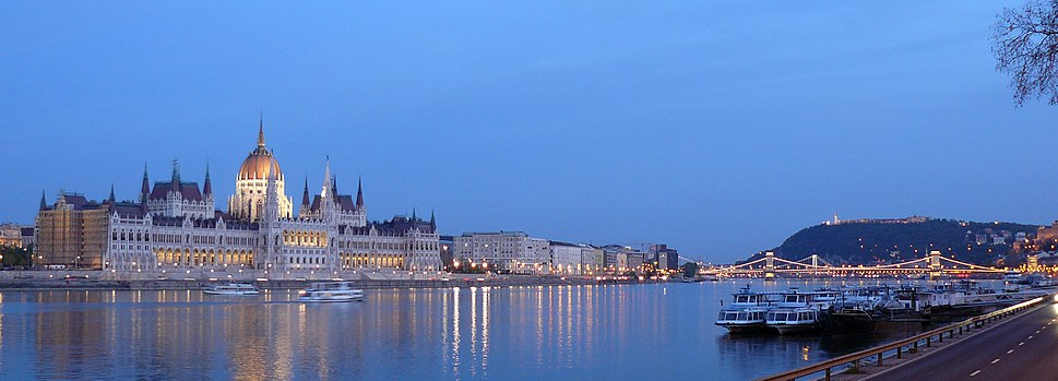 Panorama of the Danube in Budapest