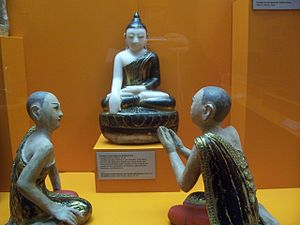 Leipzig Museum of Ethnography - The Buddha with Maudgalyayana and Sariputta.