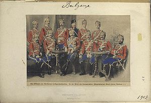 Bulgarian Life Guard Cavalry Squadron Officers, 1903, The Vinkhuijzen collection.jpg