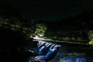 Cavinti - Bumbungan Eco-park at night. It is located in barangay Tibatib.