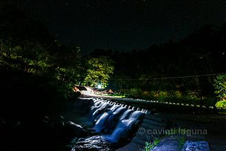 Cavinti - Bumbungan Eco-park at night. It is located in barangay Tibatib.