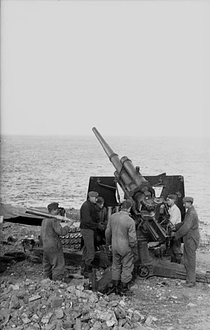 Operation Dragoon - German 88 mm gun on the coast in southern France